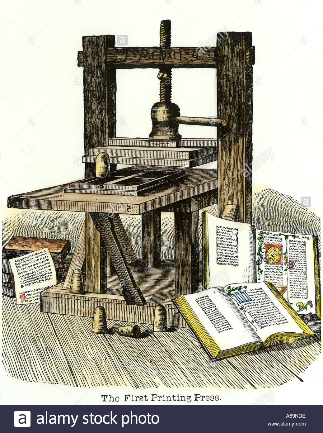 Snap The Gutenberg Press My Awol Life Photos On Pinterest Printing Diagram Gutenbergprintingpressjpg Books Without Paper E Justification Of Johann