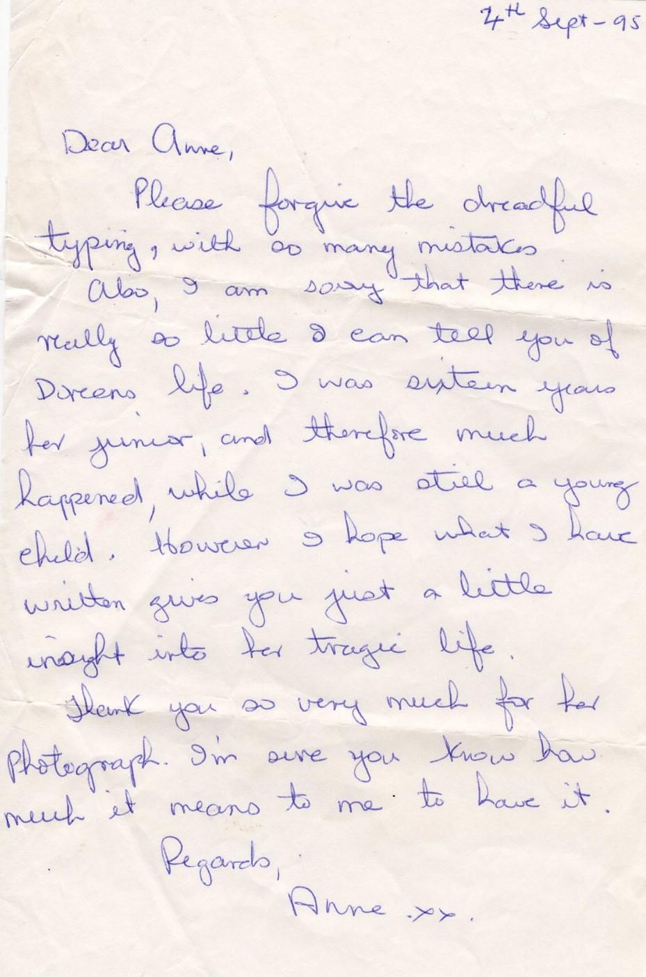Letter from Anne Albert 2