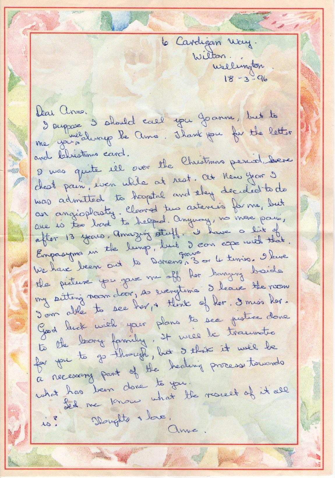 Letter from Anne Albert 3