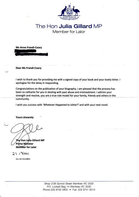Julia Gillard Letter