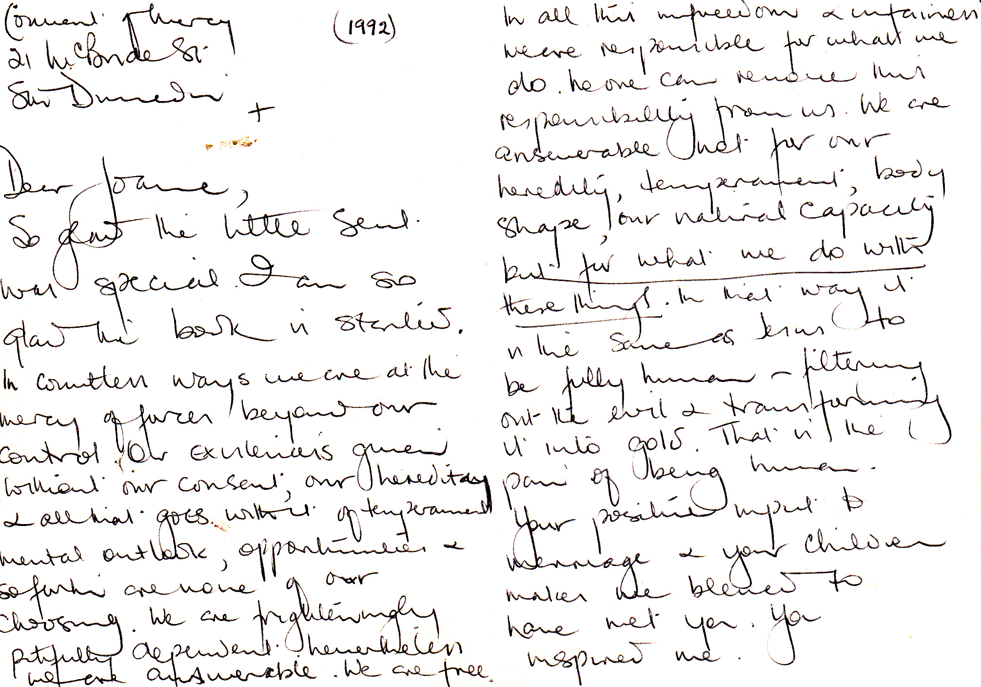 letter from Sister Joanna 2